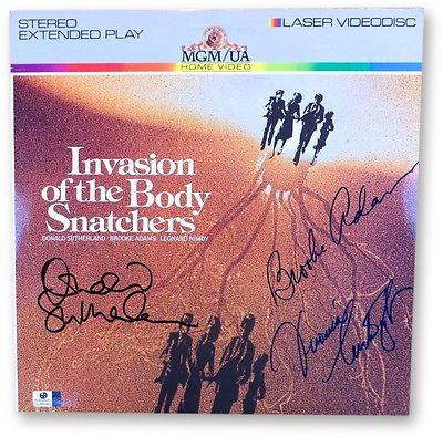 Sutherland/Adams/Cartwright Autographed Laserdisc Cover Body Snatchers GV865962