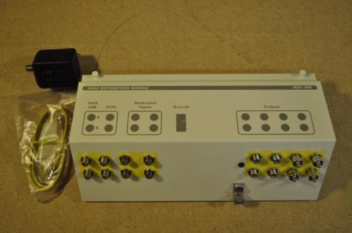 Honeywell MDC-408 COAX DISTRIBUTION MODULE W POWER SUPPLY CABLE SAT CCTV SPLIT
