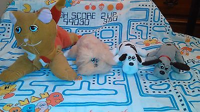 Vintage Tonka Pound Puppies LOT 3 Puppies and 1 Cat