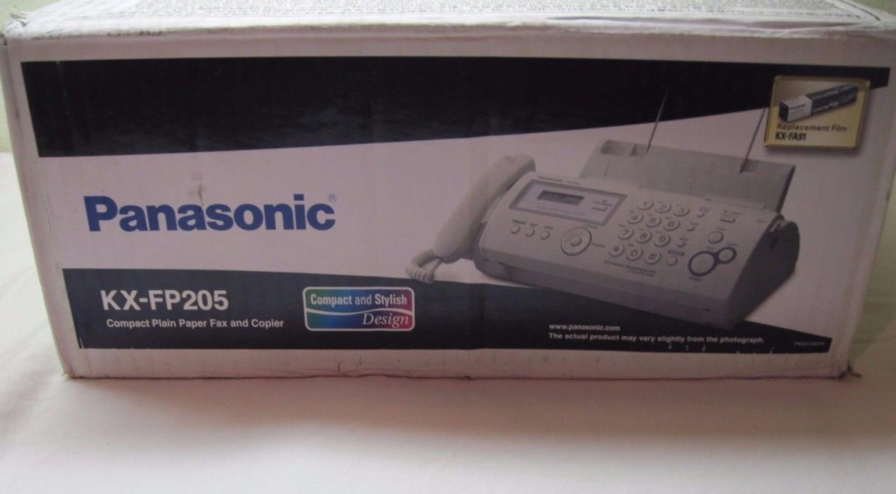 Panasonic KX FP205 Plain Paper Fax and Copy Machine