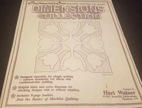 Stencil Quilting Continuous Line Machine Quilting Patterns Dimensions