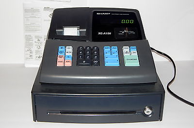 Sharp XE-A106 Electronic Point of Sales Retail Store Cash Register  Works Great!