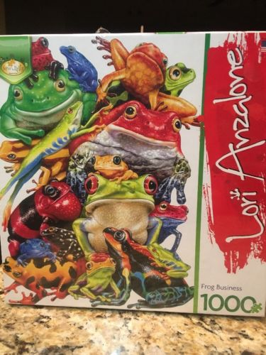 Lori Anzalone Frog Business Shaped Jigsaw Puzzle 1000pc