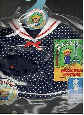 Madeline 15 inch Doll Ragdoll Sailor Dress Hat Eden Blue White Polka Dot  New