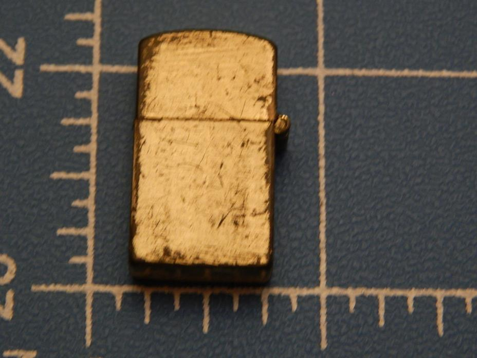 Vintage Gumball Machine Lighter, 1 Inch Tall Gold Tone Unused Blemished