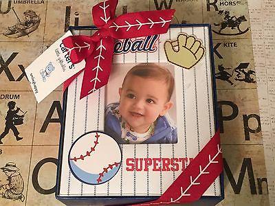 Carter's BASEBALL Themed Memories/Picture Book Album Baseball Superstar