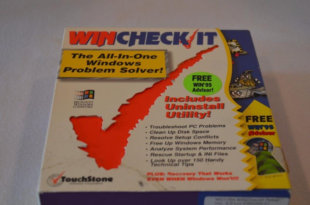 Wincheck It Touch Stone Computer Software Free Win 95 Advisor