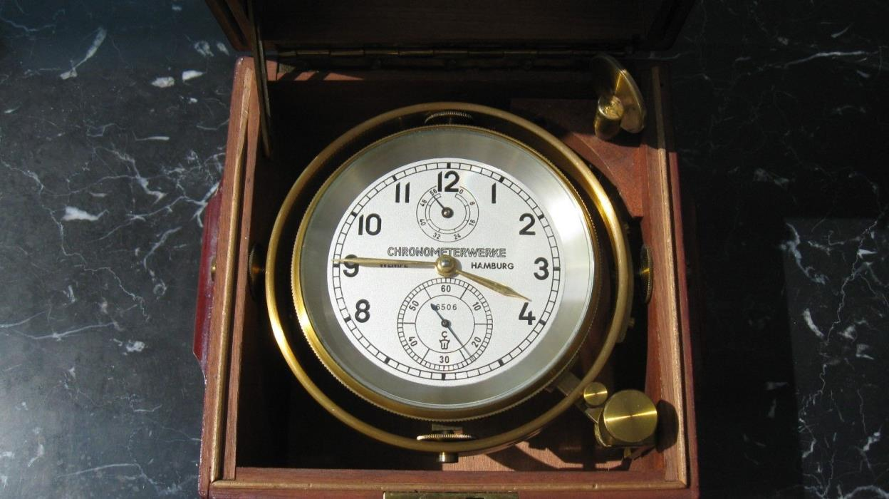 marine chronometer by Chronomerterwerke, Hamburg