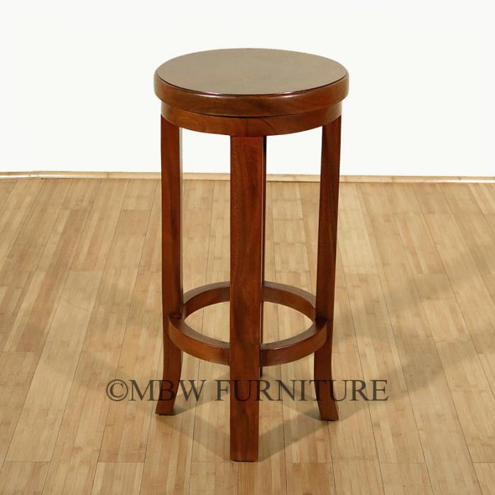 WHOLESALE LOT –  10 BAR STOOLS  Natural Suar Wood Round Bar Stools 30H  QTY-10