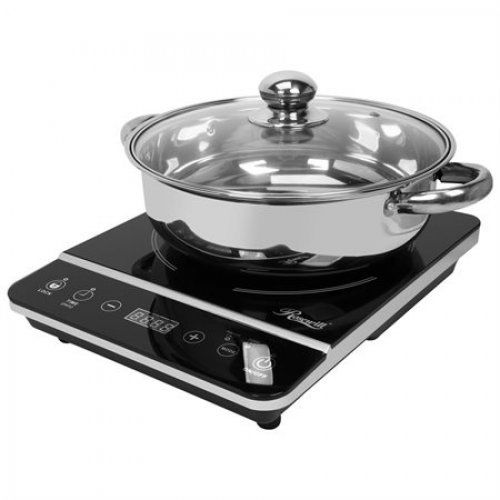 1800W Induction Cooker Cooktop Stainless Steel Pot Kitchen Small Appliance Home
