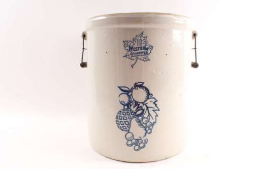 Neat Old Vintage Fruit Decorated Crock Western Stoneware 10 Gallon