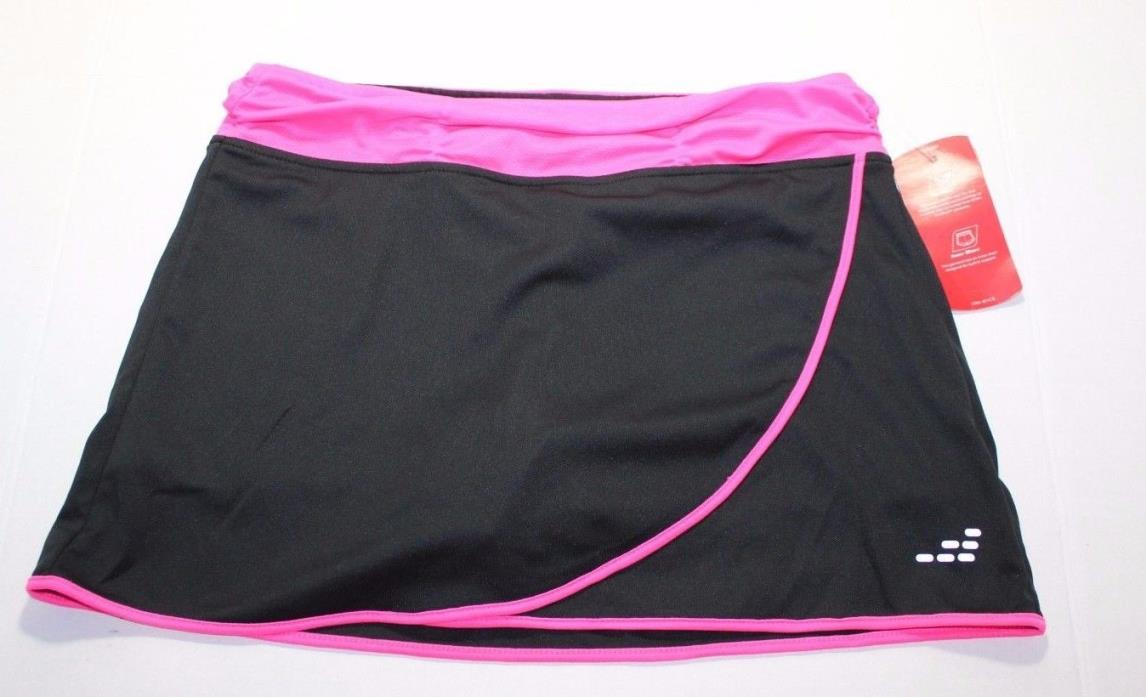 BCG Girl's Tennis Studio Petal Skort Black and Pink Size XL 14