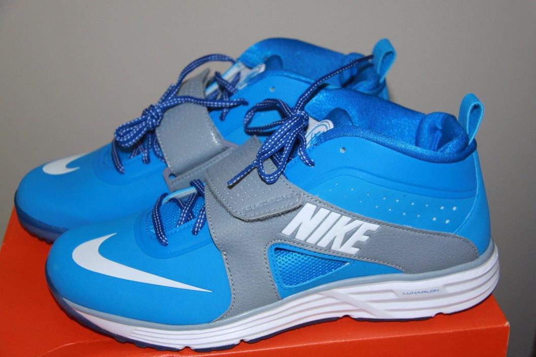 NIB Nike Huarache Turf Lax shoes Lacrosse Men's sz 10 Photo Blue
