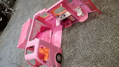 Vintage Barbie camper with pop out tent