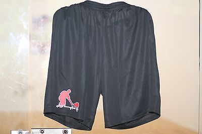 Racquetball Shorts Dry Fit with 2 side pockets BLACK by AUGUSTA, MENS SIZE: L