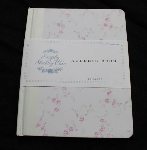 Simply Shabby Chic Address Book Floral Roses NEW