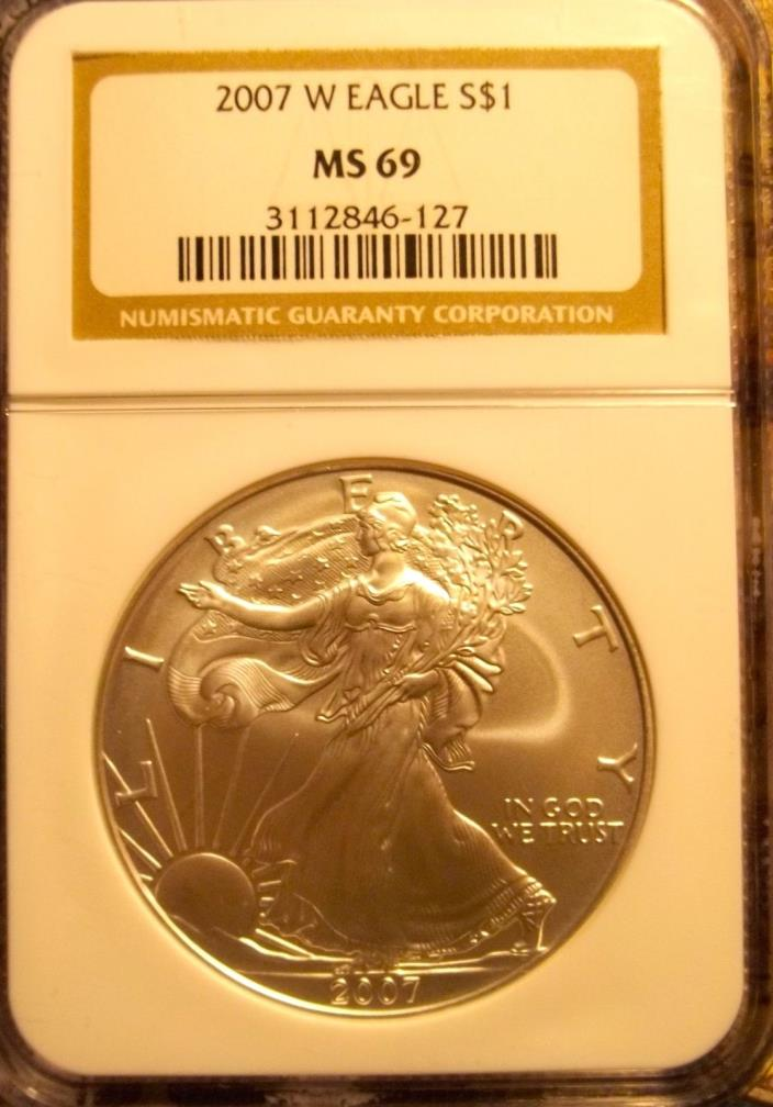 2007-W 1 ounce Silver American Eagle NGC MS-69