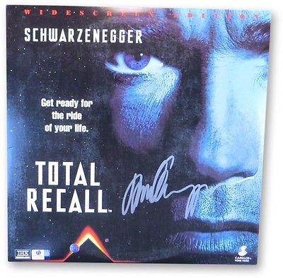Arnold Schwarzenegger Signed Autographed Laserdisc Cover Total Recall GV865953