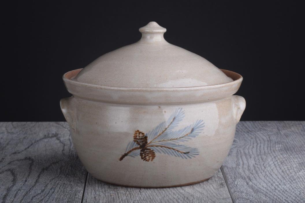 Jugtown Ware 1986 North Carolina Art Pottery Covered Casserole Dish