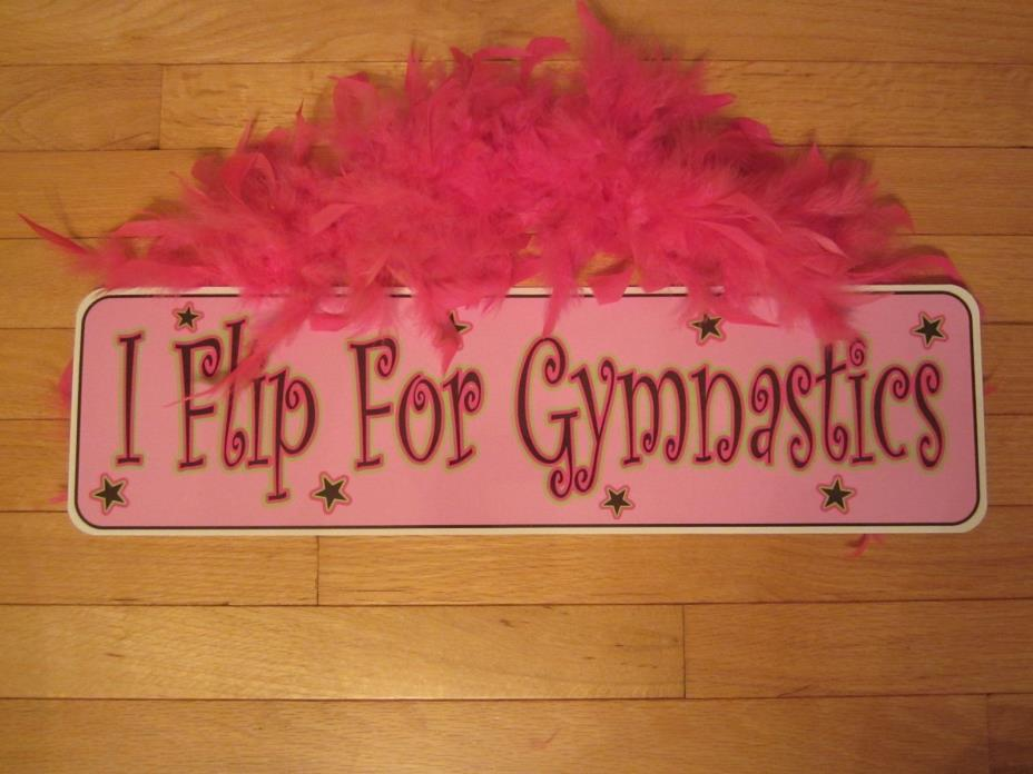 I Flip for Gymnastics   Metal Sign