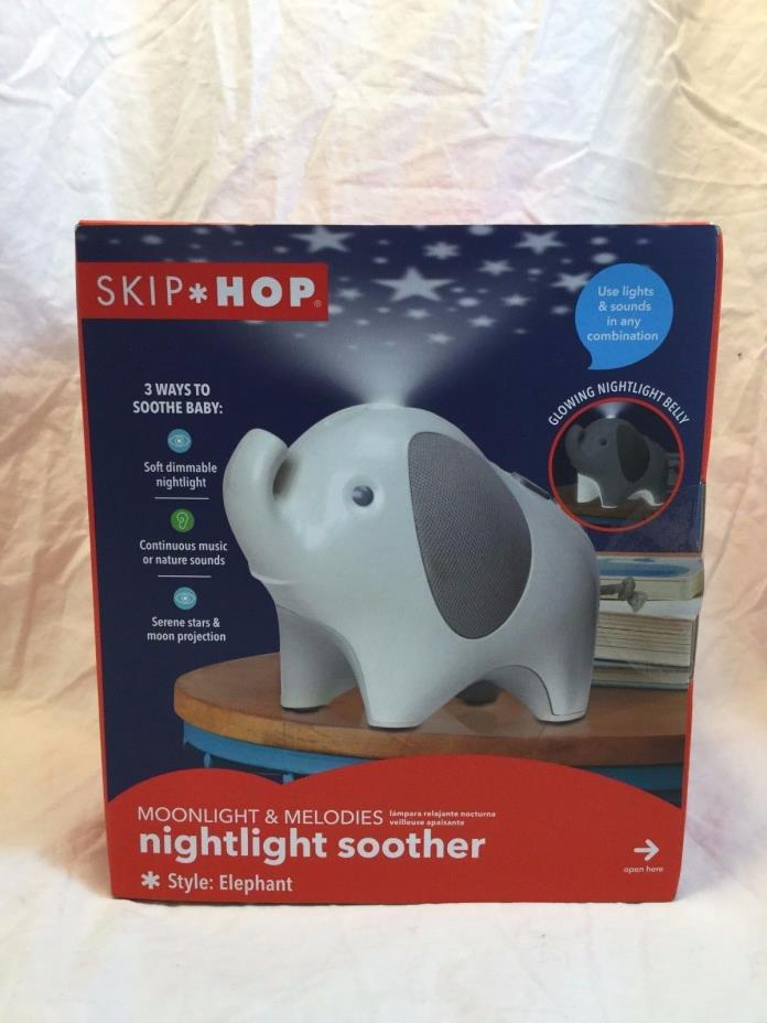 Skip Hop Moonlight & Melodies Nightlight Soother - Elephant *Free Shipping*