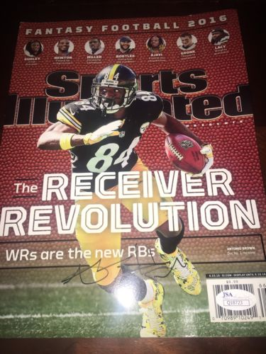 Antonio Brown Signed Autographed Sports Illustrated JSA Certed