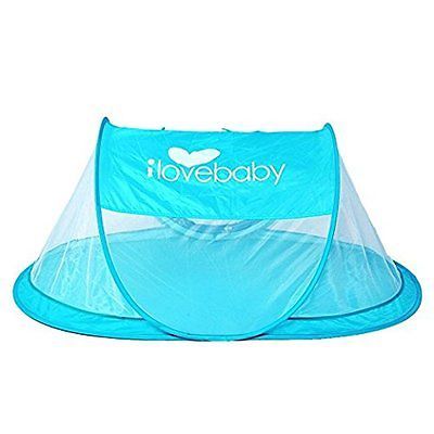 Instant Portable Travel Baby Tent, Beach Play Tent for Babies, Blue