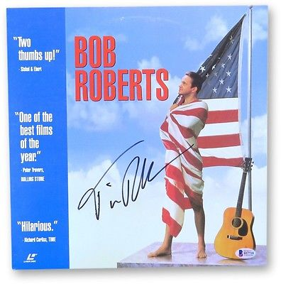 Tim Robbins Signed Autographed Laserdisc Cover Bob Roberts Beckett B57718