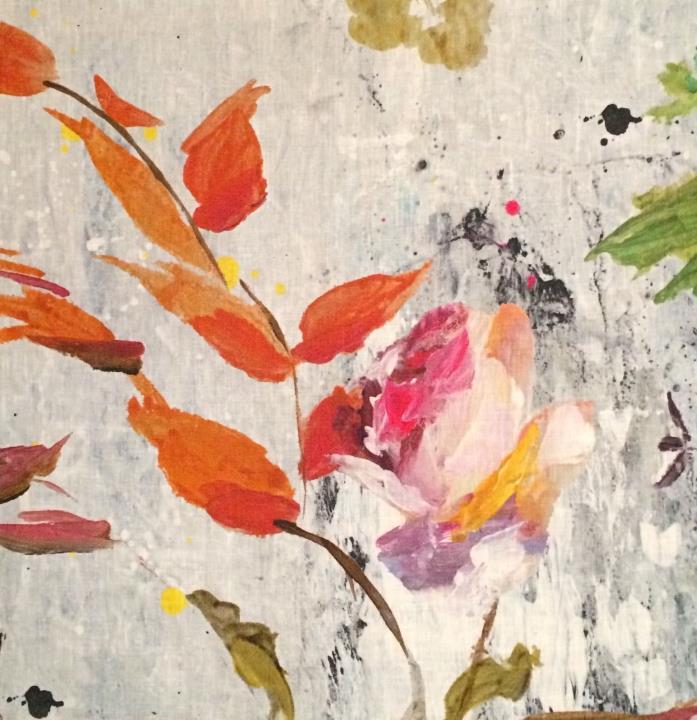 DESIGNERS GUILD Jardin de Plantes Aubriet floral printed linen Remnant New