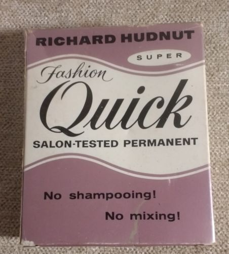 Quick home permanent perm vintage 1961 complete set for display only