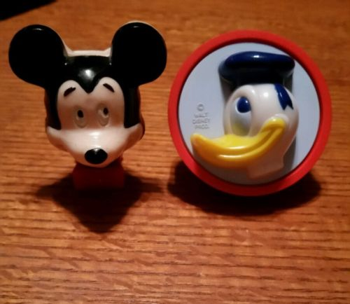 Vintage Walt Disney night lights. Mickey Mouse, Donald Duck