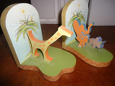 CARTERS BABY INFANT SAFARI BOOKENDS NEW UNUSED