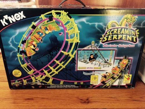 K/'NEX 63153 Screamin/' Serpent Roller Coaster 99/% Complete with manual