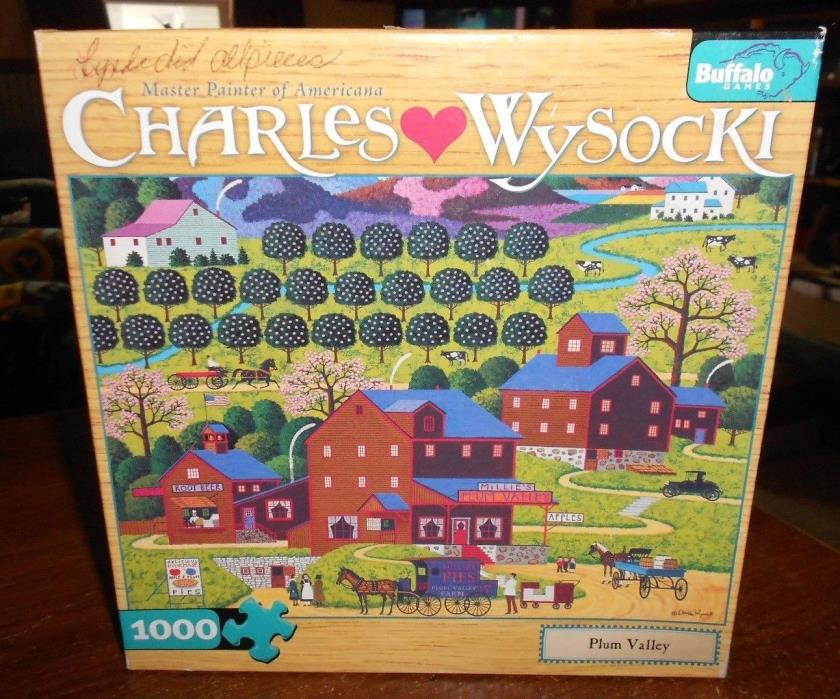 buffalo games charles wysocki's 1000pc puzzle plum valley