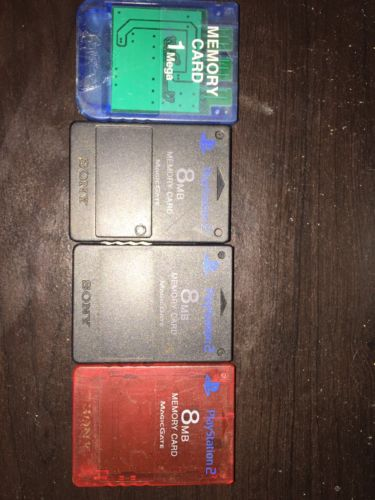 playstation 2 memory card lot (4 Total)
