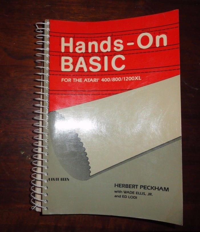 Hands-On Basic for Atari 400/800/1200Xl Computer literacy PB Peckham 1983