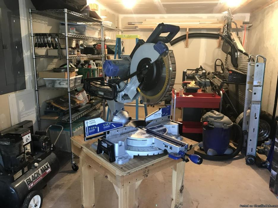 Kobalt 12-in 15-Amp Sliding Laser Compound Miter Saw
