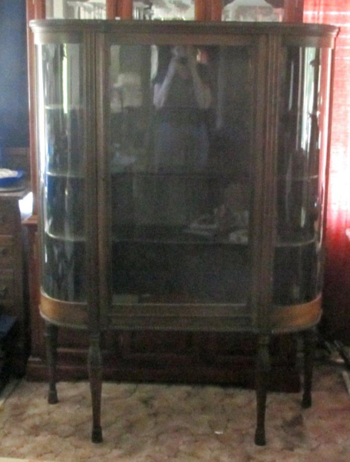 Curved Glass Curio Cabinet For Sale Classifieds