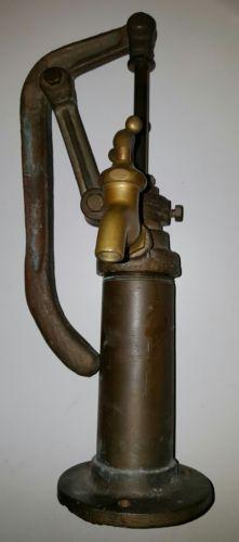 Rare Antique Italian Solid Brass Hand Water Pitcher Pump