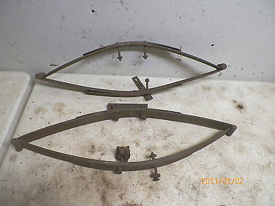 Old Pair Horse Drawn Wagon Springs for Wood Seat
