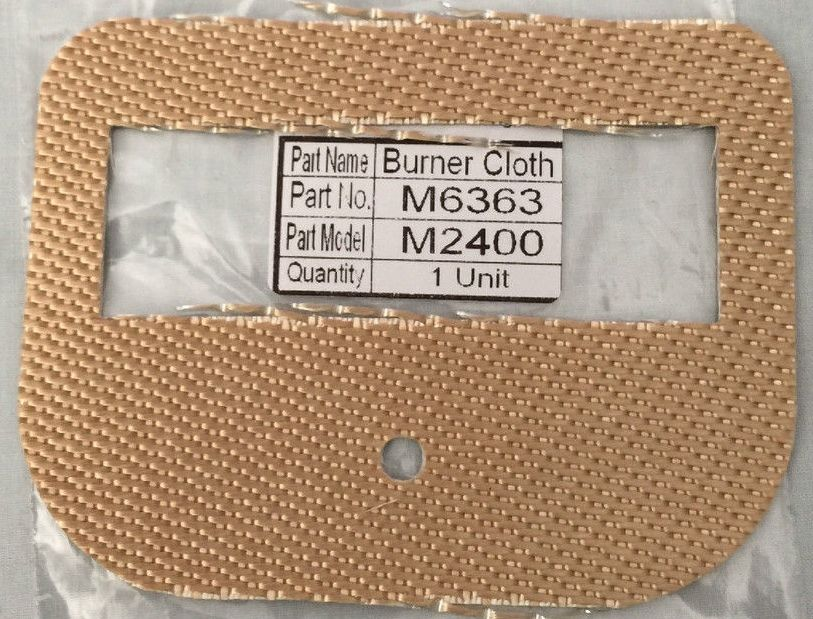 Monitor Heater BURNER MAT - Part # 6363 - MPI 2400, 441, 41, 40 - NEW
