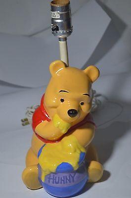 Vintage Winnie The Pooh Honey Pot Lamp