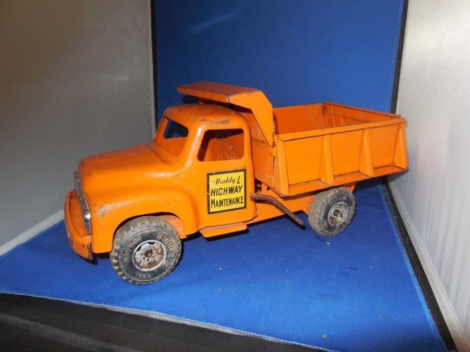 Great Vintage Tin Buddy L Dump Truck