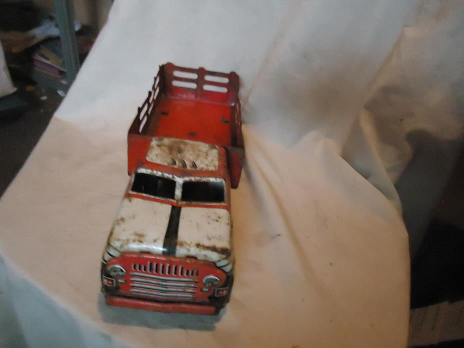 Vintage Marx Tin Litho Toy Delivery Truck From Estate