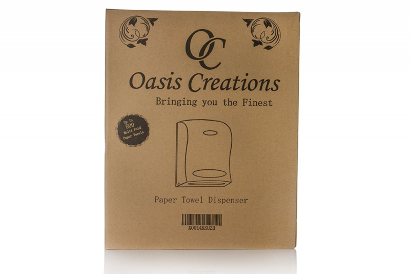 Oasis Creations Touchless Wall Mount Paper Towel Dispenser, Hold 500 Multifold P