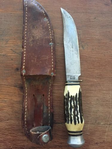 Vintage PIC Stag Handled Bowie/Hunting Knife Solingen Germany