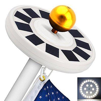 TOTOBAY Figurine Lights 30 LED Solar Power Flag Pole Lights, Upgraded Version 15