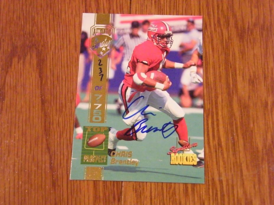 Chris Brantley Autographed 1994 Signature Rookies Rutgers