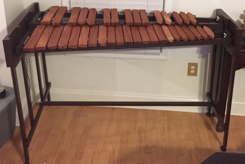 Terra Percussion 3 Octave Marimba - Padauk Wood, No Resonators, Wood Frame