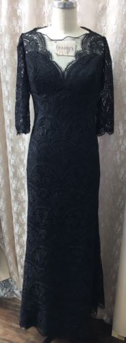 Jade Couture Long Black Lace Size: 14